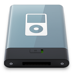 256x256px size png icon of Graphite iPod W