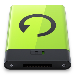 256x256px size png icon of Green Backup