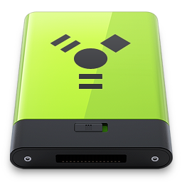 256x256px size png icon of Green Firewire