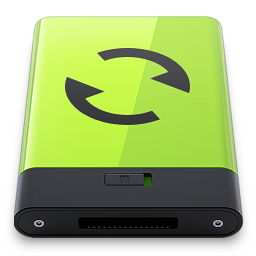 256x256px size png icon of Green Sync