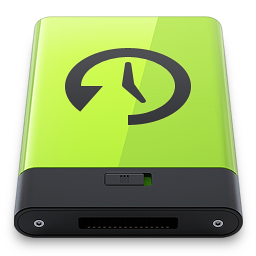 256x256px size png icon of Green Time Machine