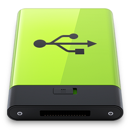 256x256px size png icon of Green USB