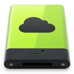 256x256px size png icon of Green iDisk
