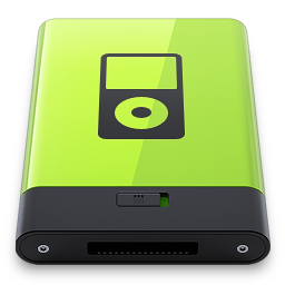 256x256px size png icon of Green iPod
