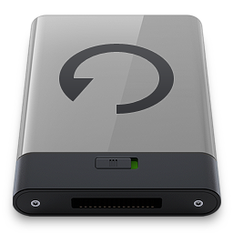 256x256px size png icon of grey backup b
