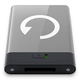 256x256px size png icon of grey backup w