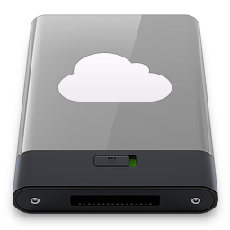 256x256px size png icon of grey idisk w