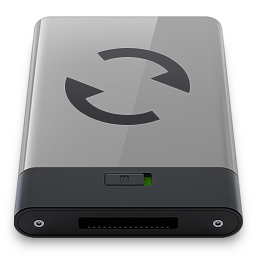 256x256px size png icon of grey sync b