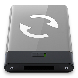256x256px size png icon of grey sync w