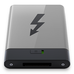 256x256px size png icon of grey thunderbolt b