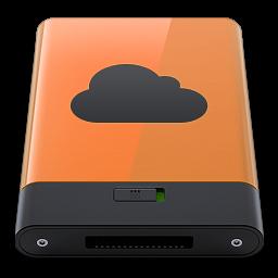 256x256px size png icon of orange idisk b