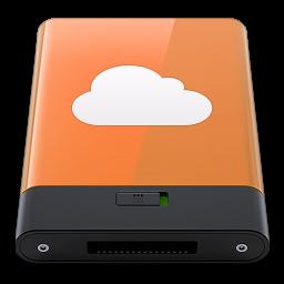 256x256px size png icon of orange idisk w