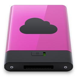 256x256px size png icon of pink idisk b