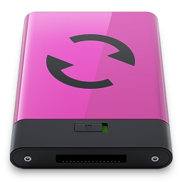 256x256px size png icon of pink sync b