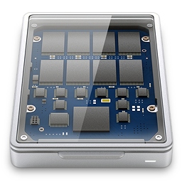 256x256px size png icon of solid state drive