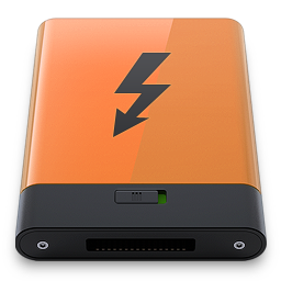 256x256px size png icon of thunderbolt