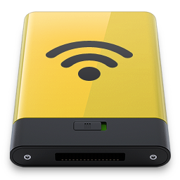 256x256px size png icon of yellow airport