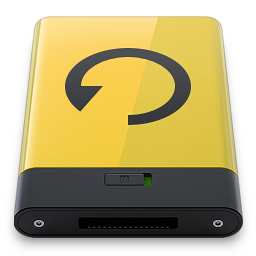 256x256px size png icon of yellow backup