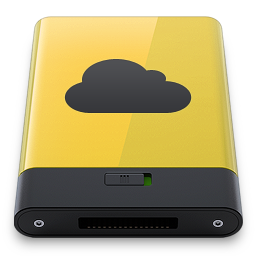 256x256px size png icon of yellow idisk