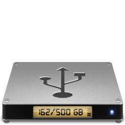 256x256px size png icon of Device usbhd