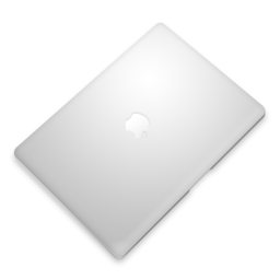 256x256px size png icon of MacBook air Perspective