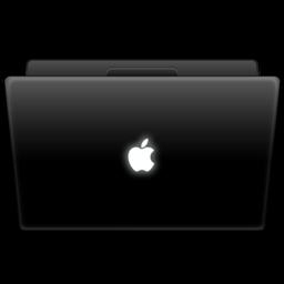 256x256px size png icon of MacbookBlack Breathe