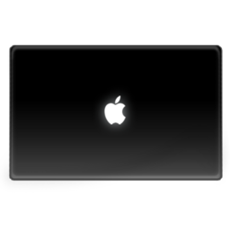 256x256px size png icon of MacbookBlack Flat