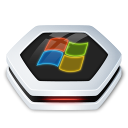 256x256px size png icon of Drive Windows