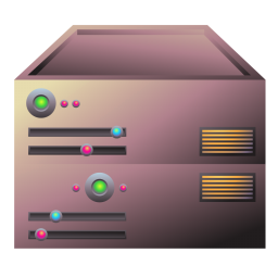 256x256px size png icon of server bronze