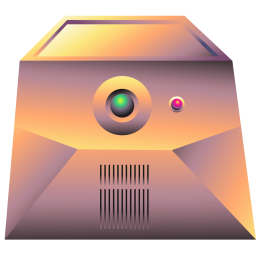 256x256px size png icon of server gold
