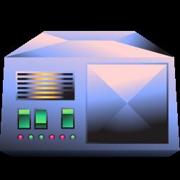 256x256px size png icon of server metallic