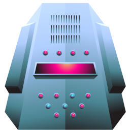 256x256px size png icon of server platinum