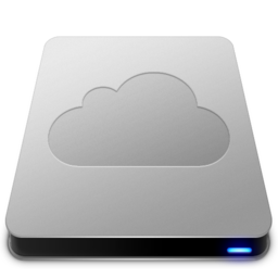 256x256px size png icon of iDisk   Aluminum