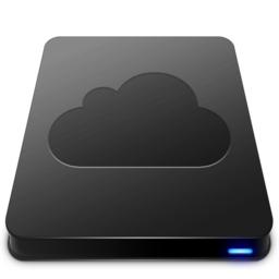 256x256px size png icon of iDisk   Black