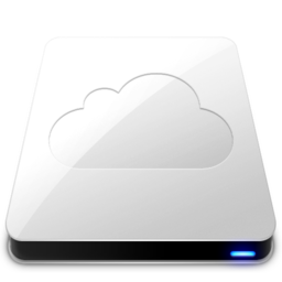 256x256px size png icon of iDisk   White