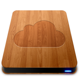 256x256px size png icon of iDisk   Wood