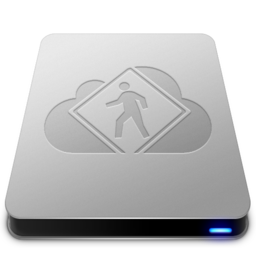 256x256px size png icon of iDisk User   Aluminum