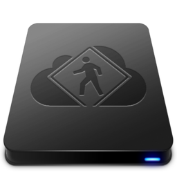 256x256px size png icon of iDisk User   Black