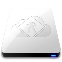 256x256px size png icon of iDisk User   White