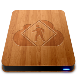 256x256px size png icon of iDisk User   Wood