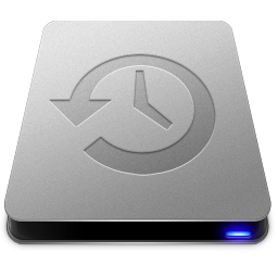 256x256px size png icon of Time Machine Drive