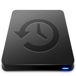 256x256px size png icon of Time Machine Black