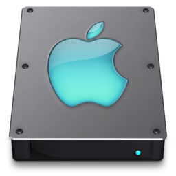256x256px size png icon of Steel Drive Aqua
