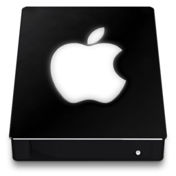 256x256px size png icon of Apple Black