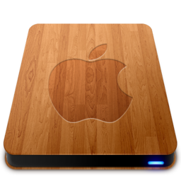 256x256px size png icon of Wooden Slick Drives   Apple