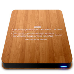 256x256px size png icon of Wooden Slick Drives   BSOD