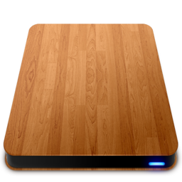 256x256px size png icon of Wooden Slick Drives   External