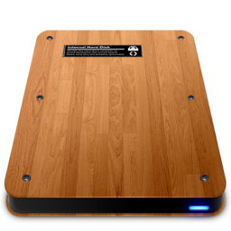 256x256px size png icon of Wooden Slick Drives   Internal