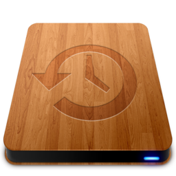 256x256px size png icon of Wooden Slick Drives   Time Machine