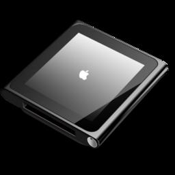 256x256px size png icon of iPod nano black